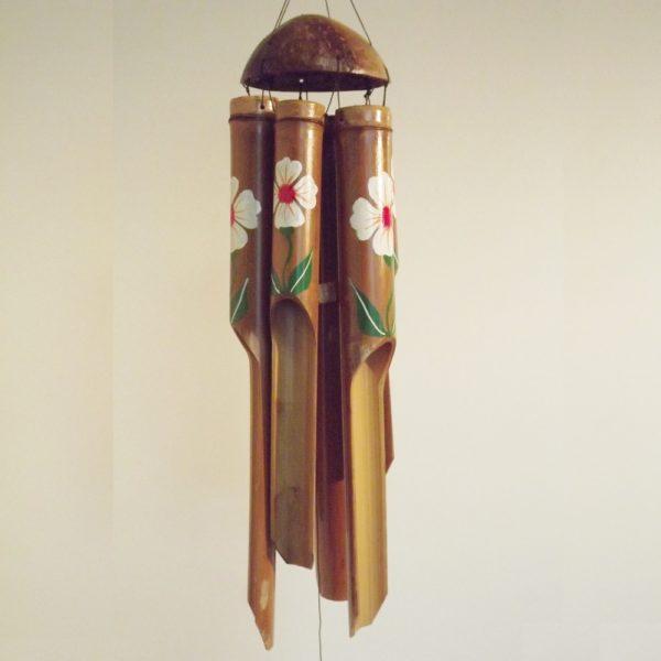 Boeddha.online Windgong Bamboe Hibiscus Wit