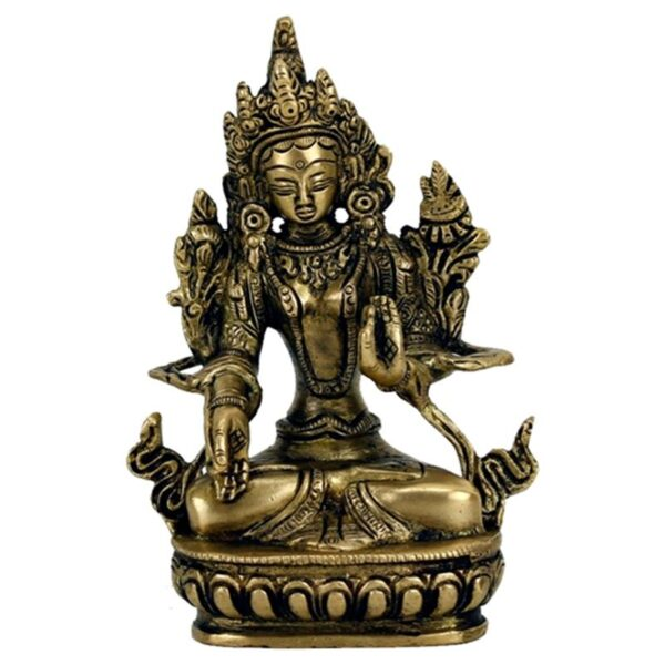 Boeddha.online Witte Tara beeld messing