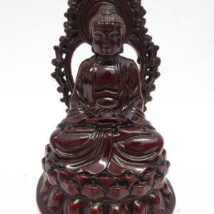 Boeddha rood in meditatie