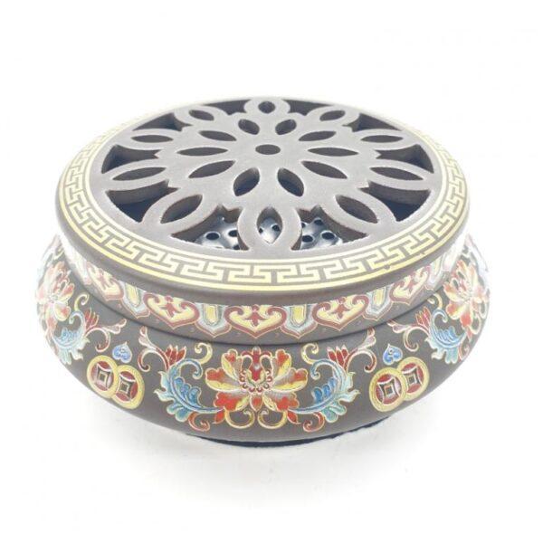 luxe wierookbrander goud met lotus - Boeddha.online