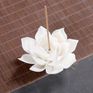 wierookhouder wit keramisch 10 cm 2