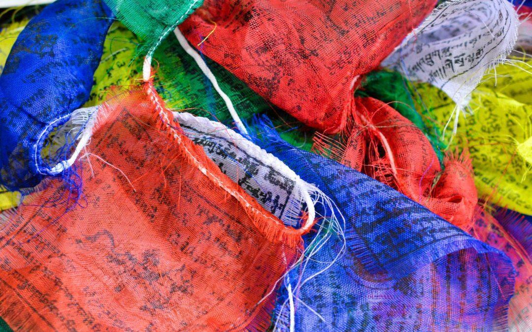 Wat staat er op de Tibetaanse gebedsvlaggetjes?